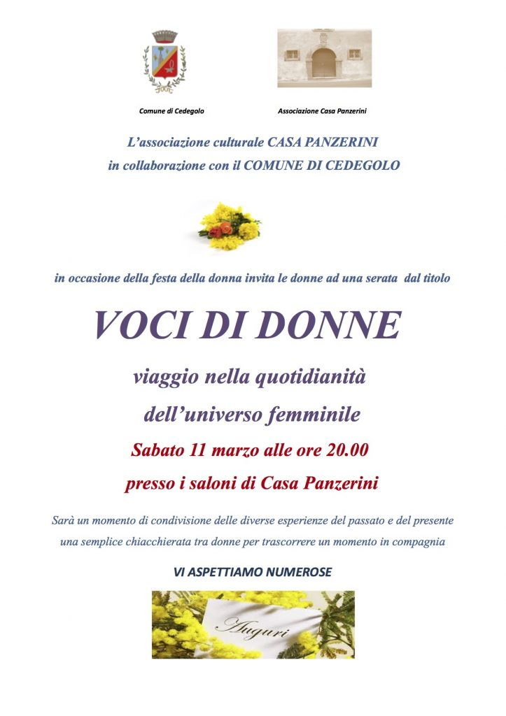 2017 11 Marzo - Voci di Donne - Ass. Culturale Casa Panzerini