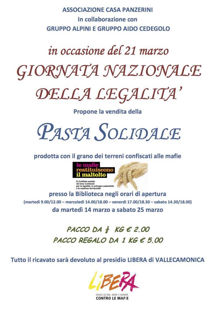 2017 14-25 Marzo - 21 Marzo Giornata Nazionale della Legalità - Libera, Ass. Culturale Casa Panzerini., Gruppo Alpini e Aido