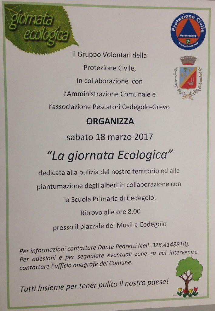 2017 18 Marzo - Giornata Ecologica - Protezione Civile e Gruppo Pescatori