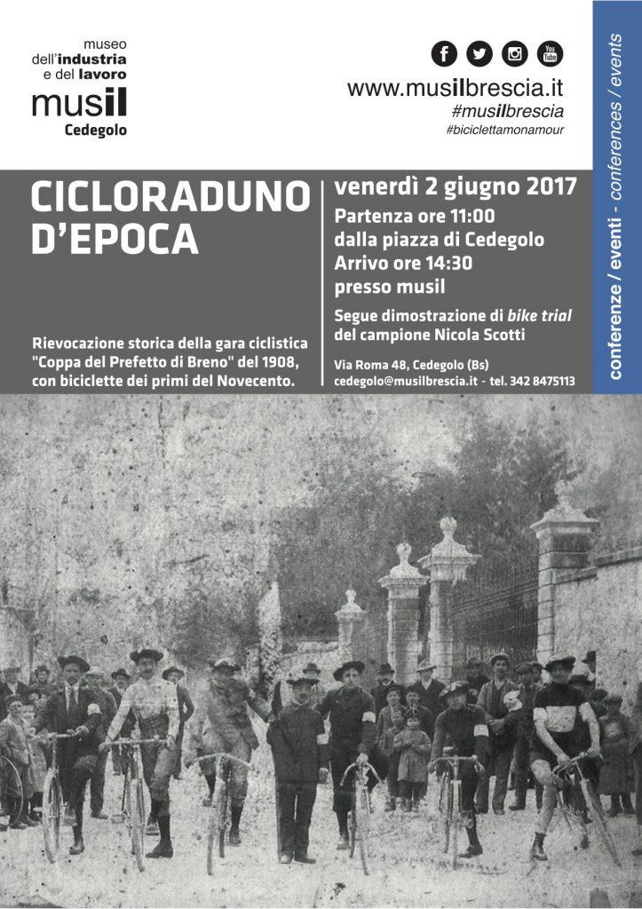 locandina Cicloraduno d'epoca - Musil