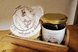 Confettura di ribes e formaggi di montagna della Valsaviore